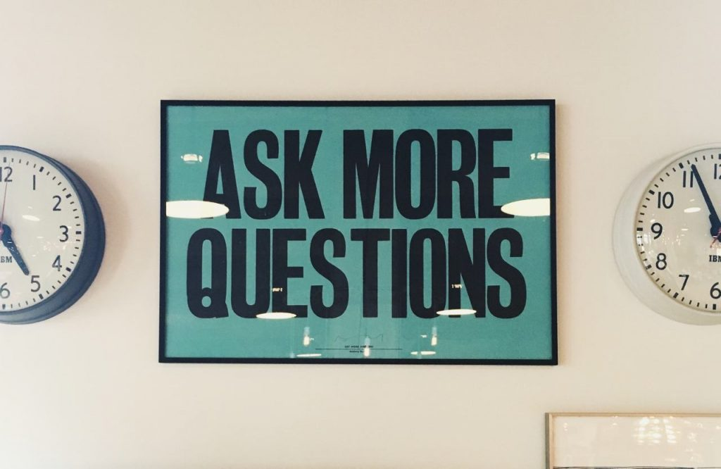 Ask more questions picyure
